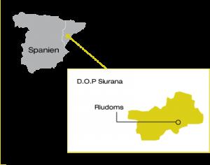 Karte-Siurana-Oel-Spanien